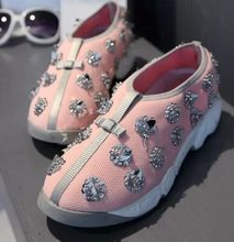 2015 New Spring Summer Women Fashion Sneakers Low Top Mesh Breathable Shoes Sneakers Women Slip On