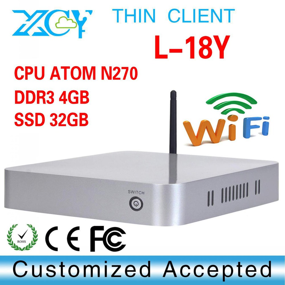 Zero Client with wifi! XCY L-18Y mini desktop comoputer XP server with fan Ultra thin pc(China (Mainland))