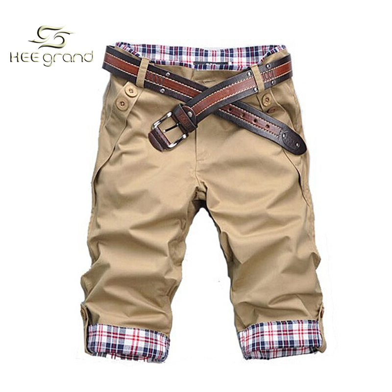 Male Leisure Casual Short Trousers Man Patchwork Plaid Shorts  Q159(China (Mainland))
