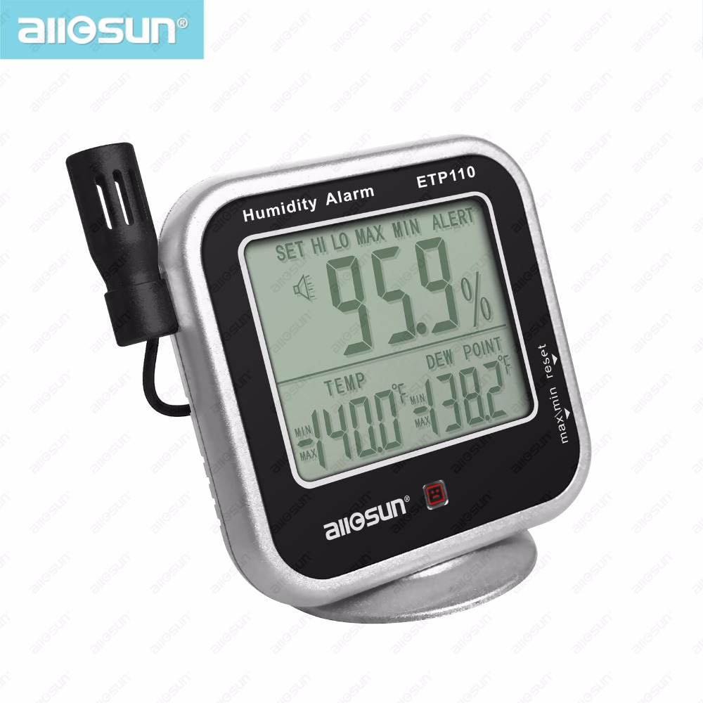 all sun ETP110 Digital Thermo hygrometer Dew point Meter with Humidity Alarm Function High precision thermometer