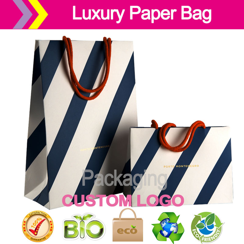 Luxury retail carrier bags /Client Construct Art paper Materials Litho print, foil block dye handles shopping Bags Retail Luxury(China (Mainland))
