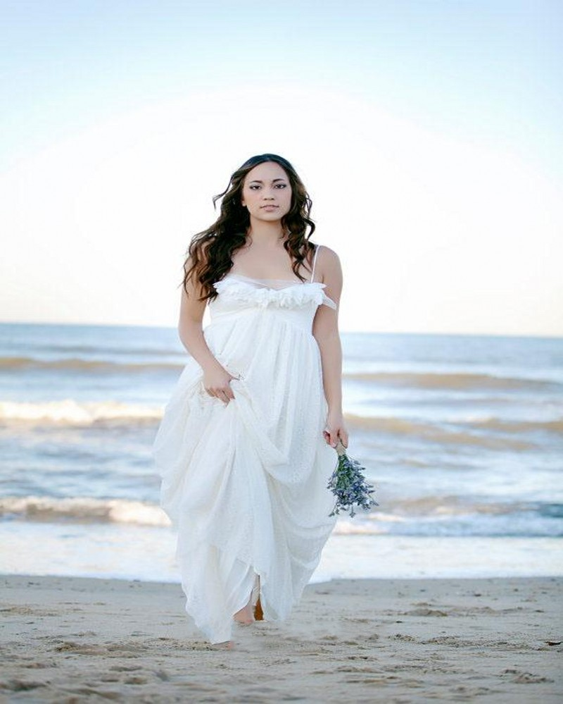 Buy plus size lace beach wedding dress for Cheap beach wedding dress