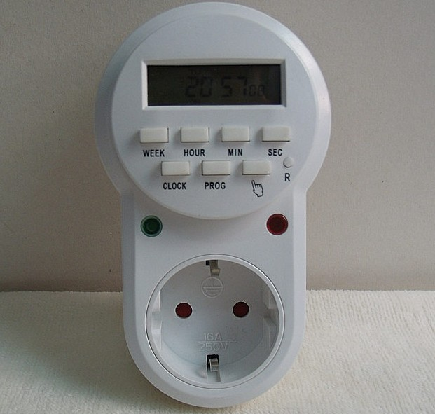 Гаджет  American standard timer converter,European standard timer socket,  digital timer, programmable time relay,220v 16A, high quality None Электротехническое оборудование и материалы