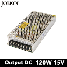 Buy switching power supply 120W 15v 8A,Single Output smps power supply Led Strip,AC110V/220V Transformer DC 15V for $11.00 in AliExpress store