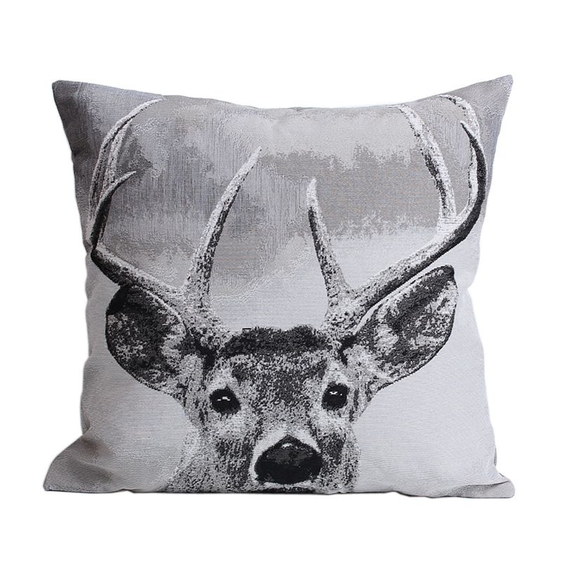 Classic Black& White Milu Deer Moose Elk Sofa Modern Style Cushion Covers Decorative Throw Pillow Cases Home Decor Promotion(China (Mainland))