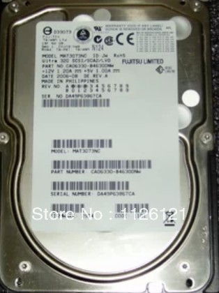 Server hard disk drive, MAT3073NC Fujitsu 73 gb 10000 turn 80 pin hotplug Ultra320 SCSI hard drives(China (Mainland))