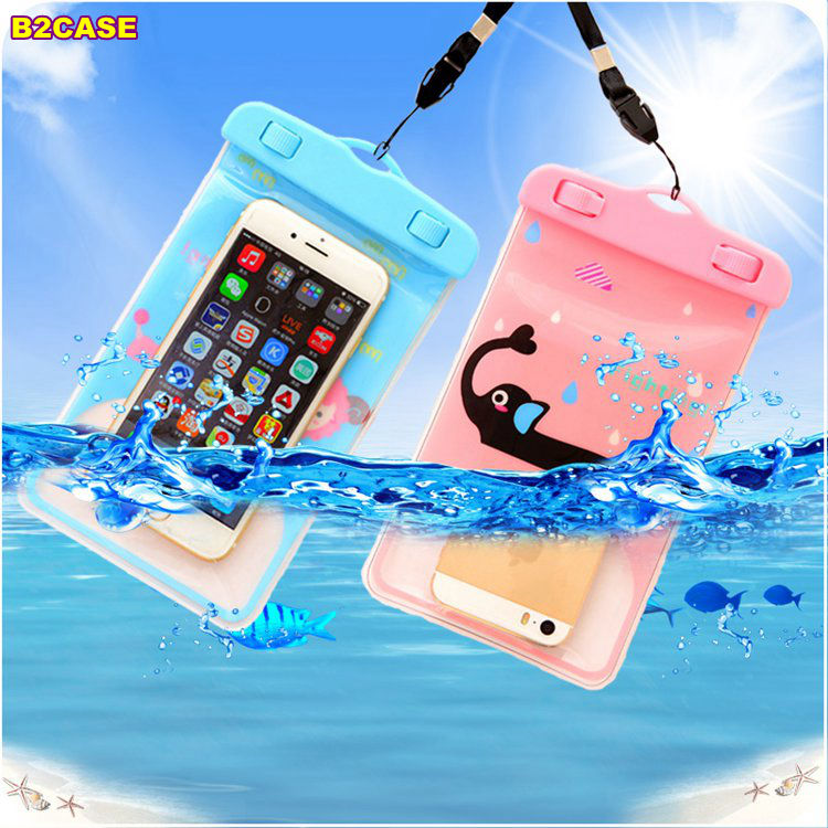 Hot Waterproof Swim Bag pouch case for blackberry Z3 Q5 HTC one M7 M8 M9 A9 Huawei note8 p9 Screen Touch Clear Protective shells(China (Mainland))