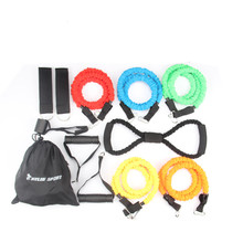 Buy 2017 new 12pcs resistance bands exercise set fitness tube yoga workout pilates wholesale free kylin sport for $30.76 in AliExpress store