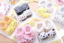 24 Style Lovely Cute Newborn Baby Socks Animal Cartoon Doll Infant Socks Model Anti slip Boys