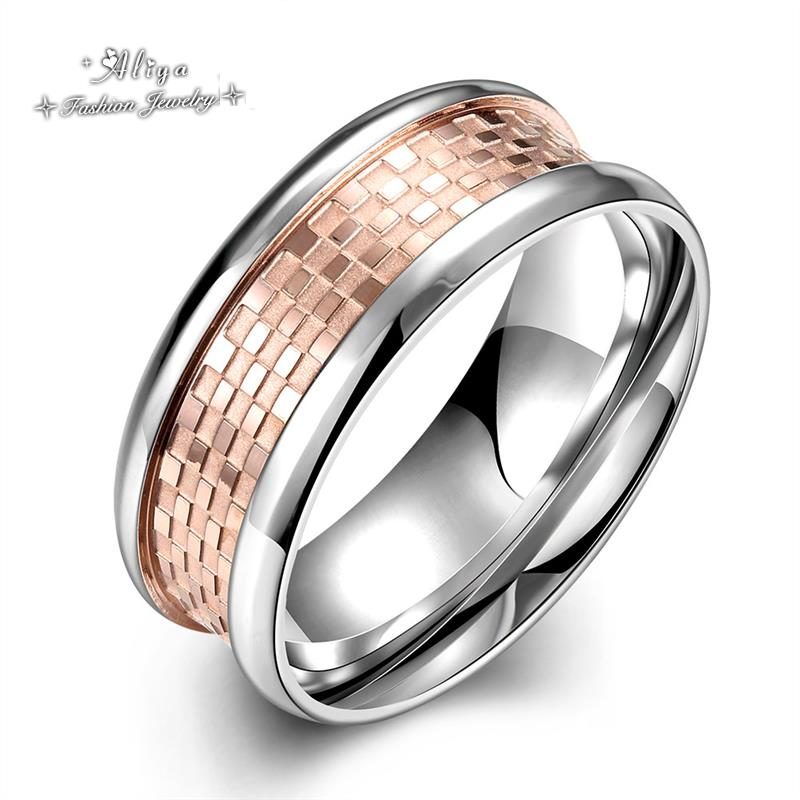 2016 new Hot Sale high quality Fashion wedding Titanium steel brand jewelry stainless steel silver ring for men Free Shipping(China (Mainland))