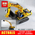 New LEPIN 20007 technic series 1123pcs excavator Model Building blocks Bricks Compatible Toy Christmas Gift 8043