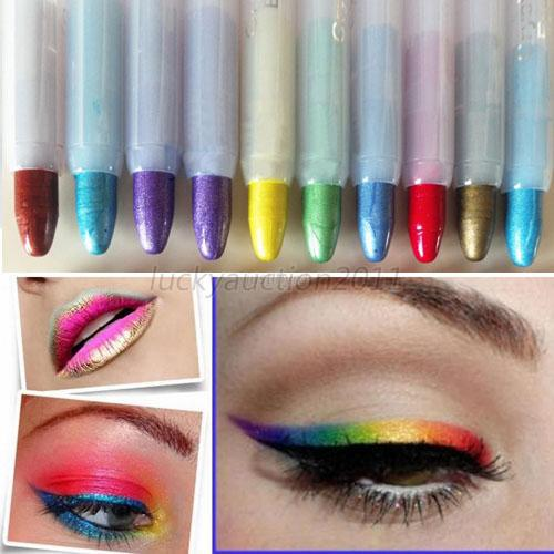 High Quality Womens Lip Liner Eye Shadow Eyeliner Makeup Shimmer Cosmetic Labial Line Pen Wholesale LH7s