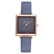 2018 Top Brand Square Women Bracelet Watch Contracted Leather Crystal WristWatches Women Dress Ladies Quartz Clock Dropshiping (China)