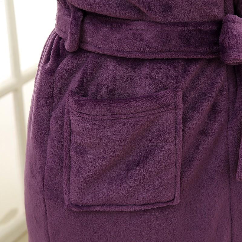 Unisex Mens Women\`s Long Polyester Sleep Lounge Robes RBS-C LYQ114 35