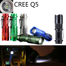 Zoomable Waterproof Light 7w Cree Q5 Led 800Lumen Mini Led Flashlight For Outdoor Sport [SK68](China (Mainland))