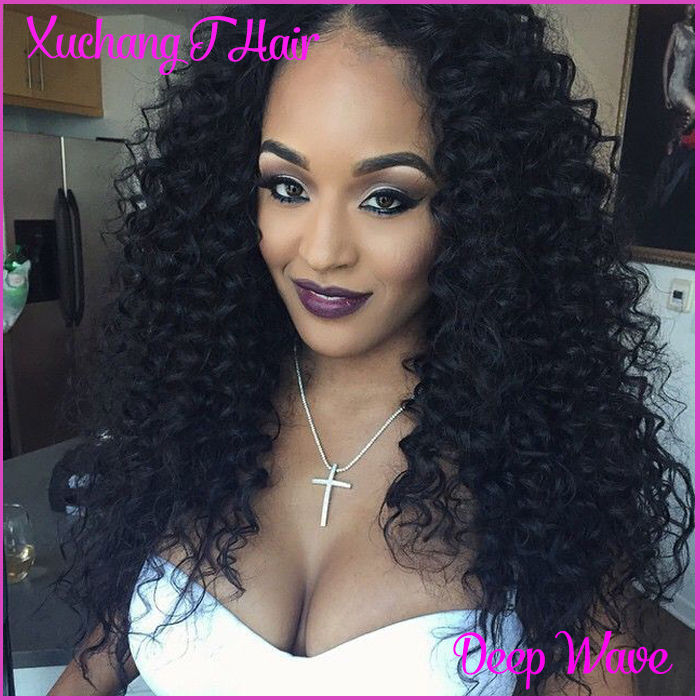 Hair-Virgin-Mongolian-Kinky-Curly-Hair-Jet-Black-5pcs-Long-Curly-Weave ...