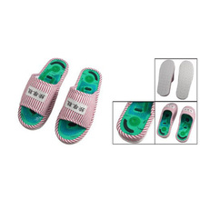 ABWE New Ladies Striped Health Care Foot Acupoint Massage Flat Slippers in Pair