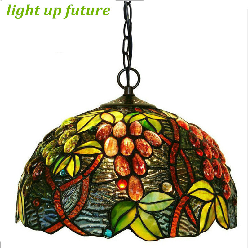 Здесь можно купить  Handmade Grapes Glass Tiffany Led E27 Pendant Light for Living Room Dining Room Vintage Tiffany LED Chain Pendant Lamp 2119 Handmade Grapes Glass Tiffany Led E27 Pendant Light for Living Room Dining Room Vintage Tiffany LED Chain Pendant Lamp 2119 Свет и освещение