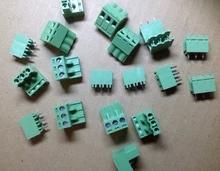 Free Shipping Green L Type 3 pin/way 5.08mm Screw Terminal Block Connector 20 pcs<br><br>Aliexpress