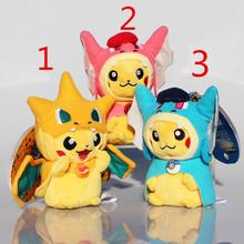 3 styles Pikachu Charmander Plush Toys Gyarados Cute Plush Stuffed Animals Soft Toys for Kids(China (Mainland))