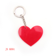 (200 pieces/lot) OEM Factory Promotion Keychain Cheap Item Custom Design Lover's Red Heart Acrylic Keychain(China (Mainland))