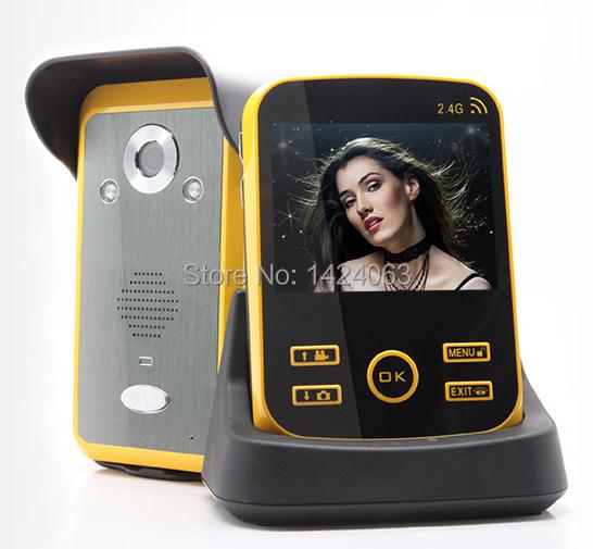 Mirilla wireless video de la puerta tel fono video portero de casa inteligente sistema de timbre - Camara mirilla puerta wifi ...