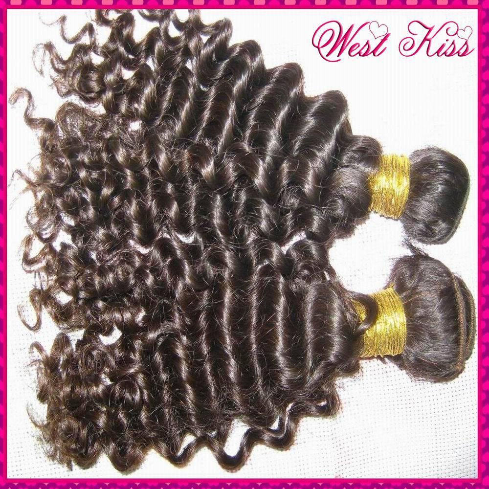 "2pcs/lot Peruvian Virgin Tight curly hair 12""-28"" no shedding TOP quality 7A WestKiss Raw Hair Products Free Tangle(China (Mainland))"