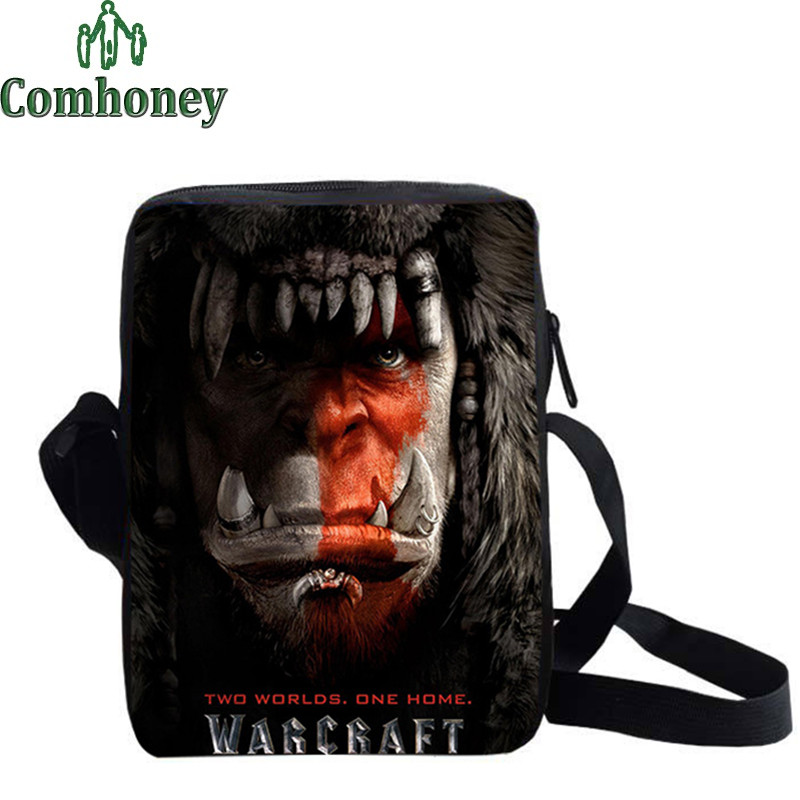 Boys Girls Schoolbags for Teenagers 2016 3D Print World of Warcraft Messenger Bags for Kids School Bags for Children Book Bag(China (Mainland))