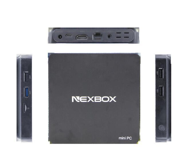 Hot Selling Black NEXBOX T10 TV Box Win 10 Z8300 1.84GHz 4-core 2.4GHz WiFi 2GB RAM 32GB ROM TV Online TOPS Smart Media Player(China (Mainland))