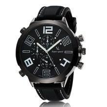China Famous V6 Brand Men Fashion Silicone Sport Watch Men Outdoor Wristwatch Quartz Military Watch Big
