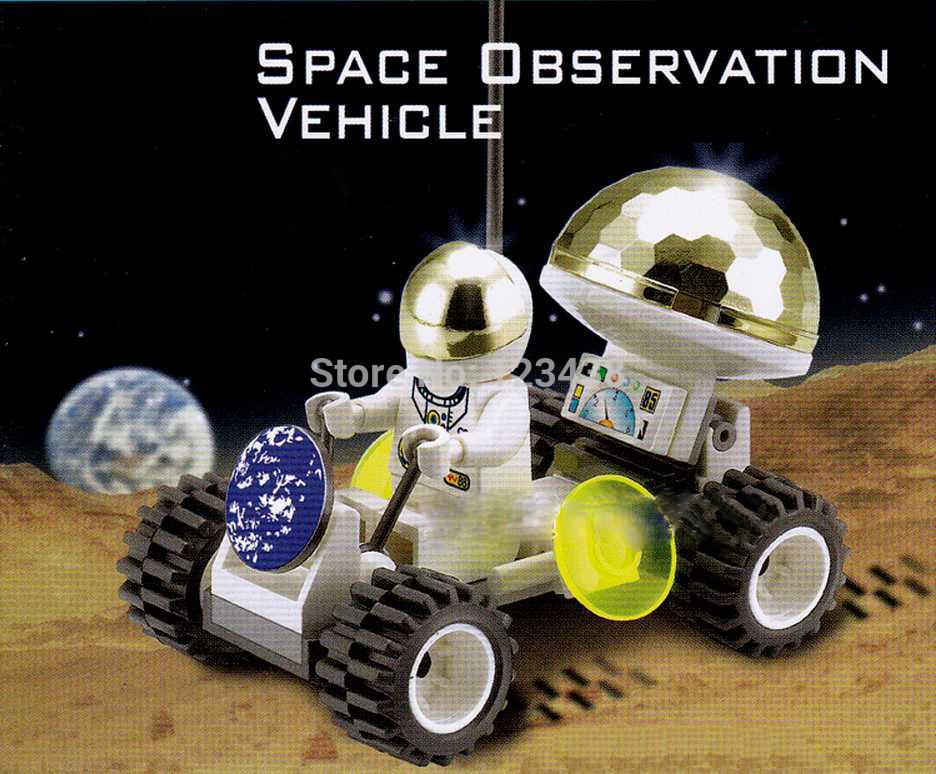 Plastic Blocks DIY Kids Astronaut Space Observation Vehicle Satelite Exploring Saucer Small Models & Building Toy(China (Mainland))