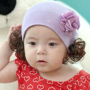 A10 New Fashion Spring Autumn Winter Warm Flower Ear Wig Baby Cap Children Cartoon Flower Animal Cute Cotton Hat Brand(China (Mainland))