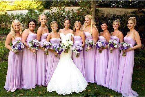 Similiar Light Purple Bridesmaid Dresses Keywords