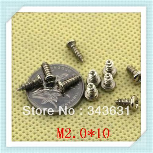 Minitype Cross recessed self-tapping screw /M2.0*10carbon steel with znic plated  self-tapping  screw  1000pcs/lot<br><br>Aliexpress