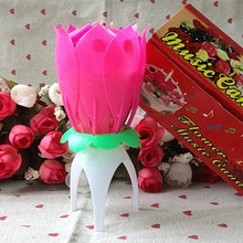 Magical Flower Musical Birthday Candle Party Decoration Gift Sparkler(China (Mainland))