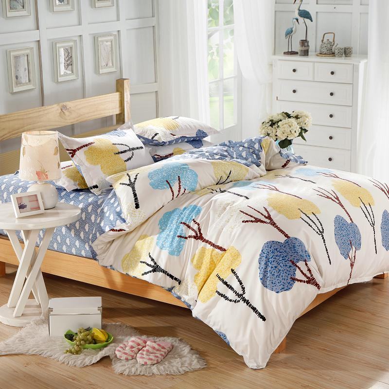 Home textile,Reactive Print 4Pcs Cotton bedding sets include Duvet Cover Bed sheet Pillowcase,King Queen Full size,Free shipping(China (Mainland))