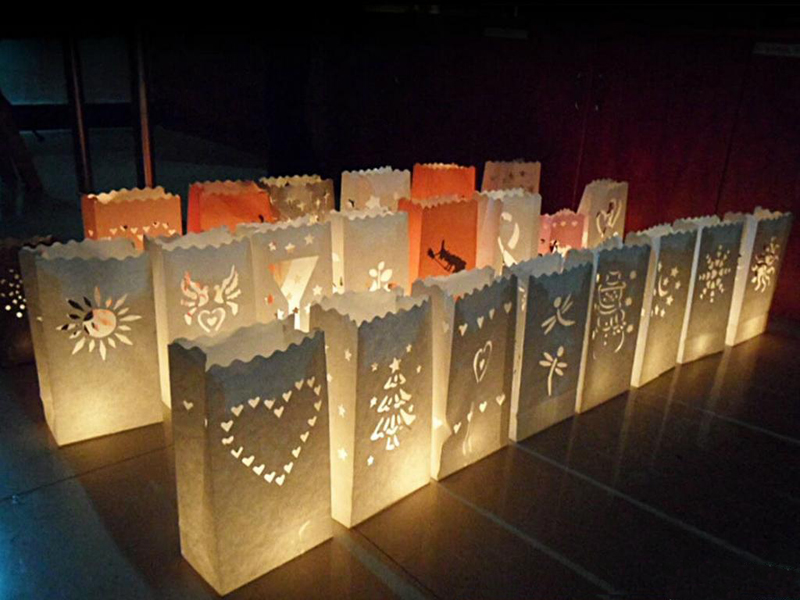 2016 Wholesale Wedding Party Birthday Halloween Valentine's day Products Flame Retardant Paper Candle Bag Hot Sale 120PCS/LOT(China (Mainland))