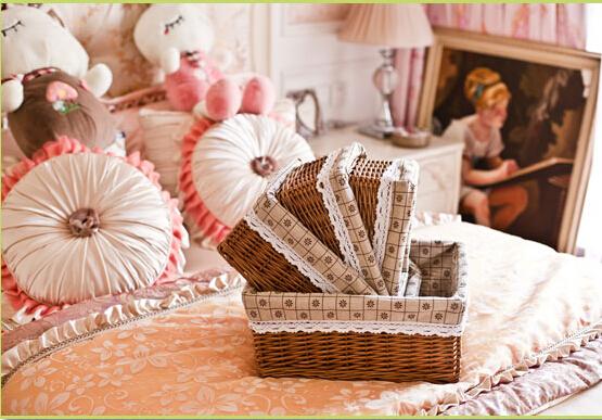 Large capacity Natural life grass sundries cosmetics laundry cookies books storage box basket hamper tray rattan willow wicker(China (Mainland))
