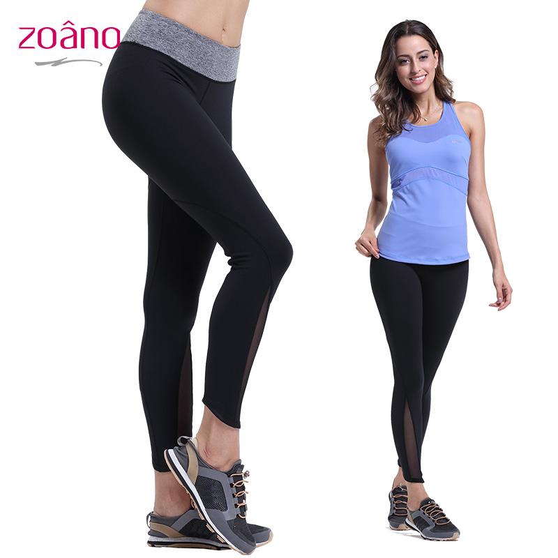 Zoano Women Outdoor Sports Yoga Pants High-elastic Comfortble Yoga Clothing Women Leggings Solid Brand Women Joggers CK52024