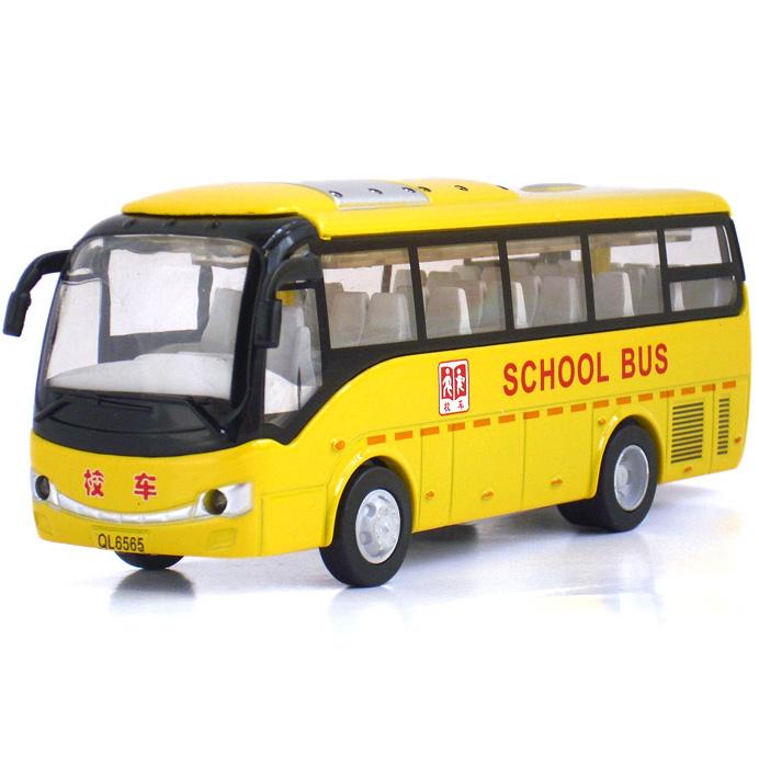 Toy car school bus mini bus car model of the bus acoustooptical WARRIOR