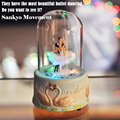 Mini Music Box with Led Flashing Lights Ballet Dance Musical Boxes for Princess Love Girls Valentine