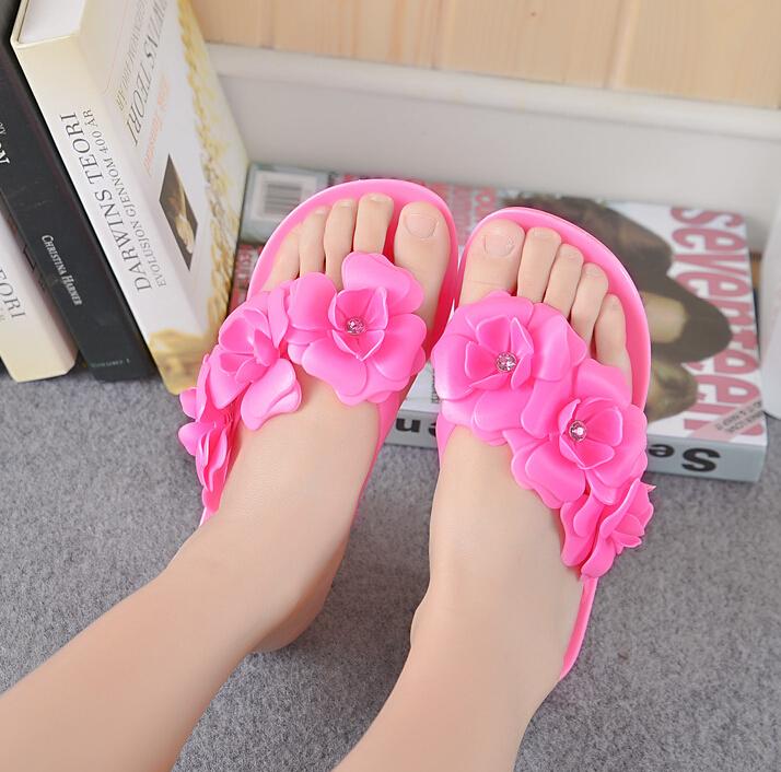 Female models Sandals Summer beach slippers jelly stereo Female flip sandals Camellia sandals<br><br>Aliexpress