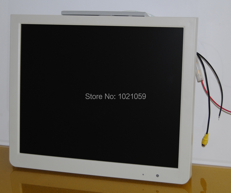 17inch lcd monitor for bus/truck/subway with DC 12V 24V input + bus tv video advertising player+1280x1050 resolution(China (Mainland))