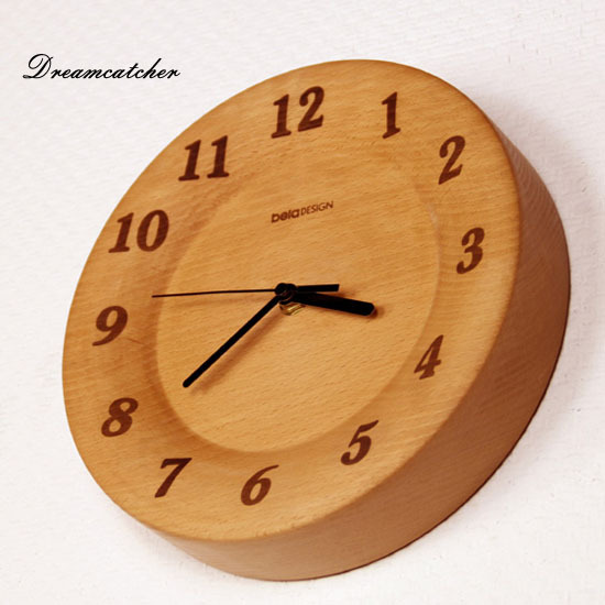 Full German Beech Design Digital 10 inch Mute Wall Clock Wooden Decoration Wall Clock for Living Room(China (Mainland))