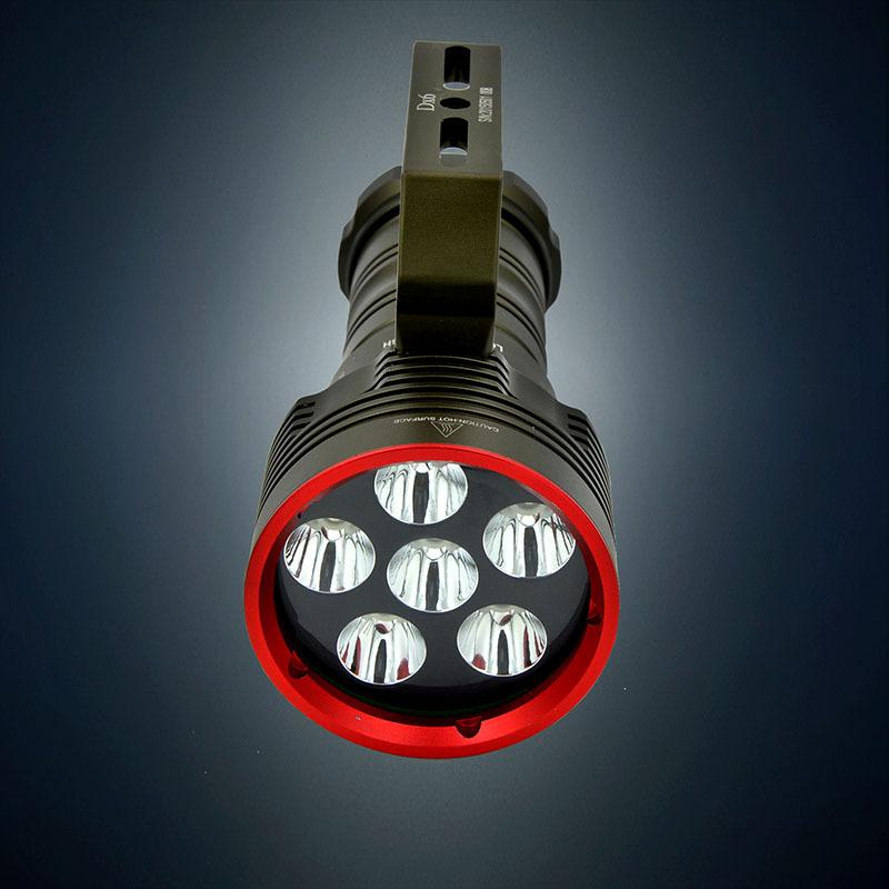 New 9000 Lumen 6*CREE XM-L2 LED Diving Flashlight Torch 18650 Power Supply 200M Underwater 18650 Waterproof LED Flash Light(China (Mainland))