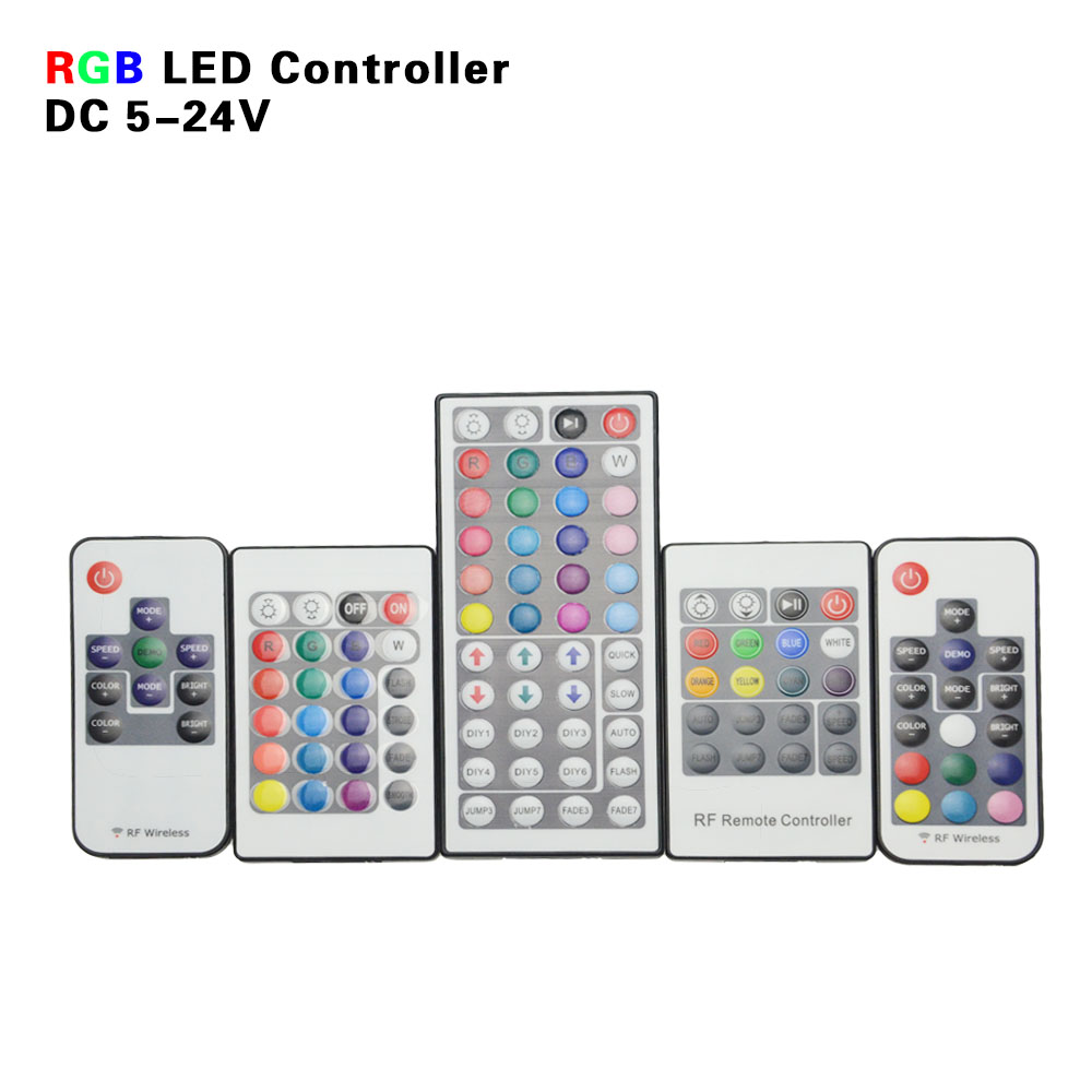 IR RF RGB LED Controller Mini LED Strip Light Remote Control 10 17 20 24 44Key Controler for SMD 5050 3528 2835 3014 Strips(China (Mainland))