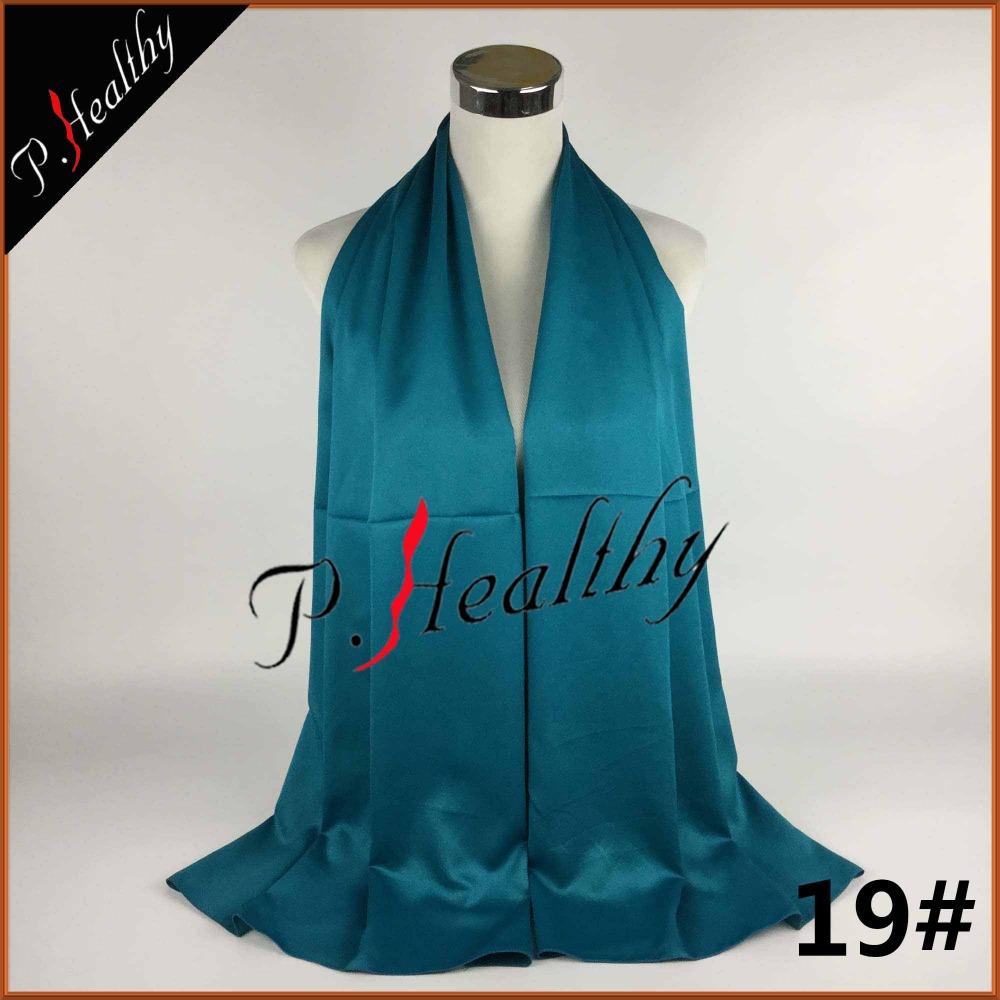 New Arrive women Silk satin mixed Arabic Muslim Long Pashmina Shawl Wrap Large Turban Hijab Scarf can22(China (Mainland))