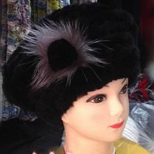 2016Hot fashion excellent rex rabbit fur hat Genuine Women winter cap high quality beret hat W#61(China (Mainland))