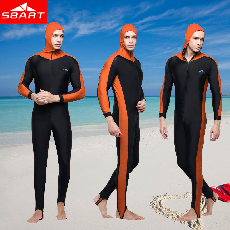 SBART Wetsuit Men Scuba Diving Suit Hood Clothes Long Sleeve Lycra Surfing Wetsuit Plus Size Surf Wet Suits Full Body Swimwear N(China (Mainland))