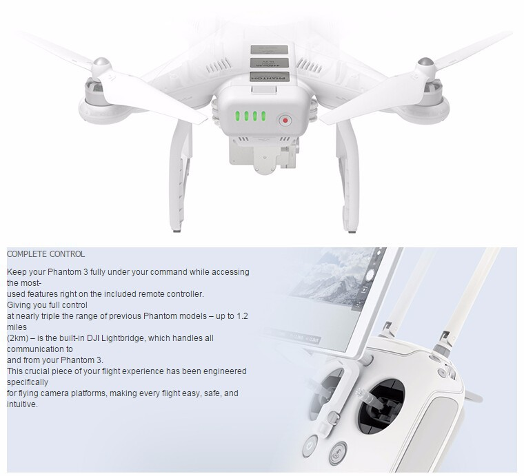 100% original DJI Phantom 3 Professional Version With 4K Camera RC Quadcopter RTF